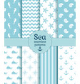 sea seamless patterns collection vector image vector image