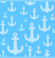 seamless background pattern with anchors on blue vector image vector image