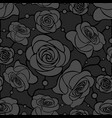 seamless floral mosaic pattern with gray roses on vector image vector image
