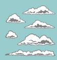 set cloud elements vector image vector image
