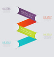 set colorful text box with steps trendy colors vector image