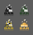 set of beer logo loft bar vector image vector image