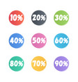 set of round color discounts vector image