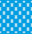 shower cabin pattern seamless blue vector image vector image