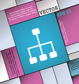 social network icon sign Modern flat style for vector image