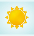 sun icon with rays abstract summer symbol vector image vector image