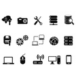 Technology Icons set vector image