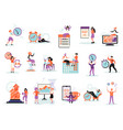 time management flat set vector image vector image