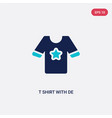 two color t shirt with de icon from clothes vector image vector image