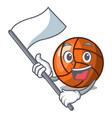 with flag volleyball mascot cartoon style vector image