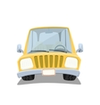 Yellow cartoon car isolated on white background vector image