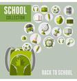 Back to school icon set vector image