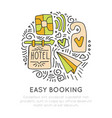 booking hotel and resortes icon concept vector image
