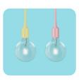 glowing light bulb shine vector image