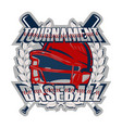 baseball badge tournament vector image