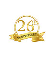 26th anniversary celebration logo vector image vector image
