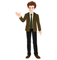 A businessman standing vector image vector image
