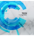 abstract blue technical triangle background vector image vector image