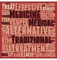 Are Alternative Medicines Effective text vector image vector image