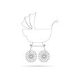 baby stroller ancient beauty black vector image vector image
