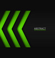 black and green overlayed arrows abstract modern vector image vector image