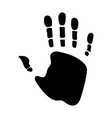 Black handprint isolated on white background