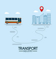 bus transport industry vector image vector image