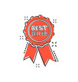 cartoon best seller ribbon icon in comic style vector image vector image