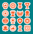champion awards of different shape icons set vector image vector image