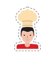 character delivery man hat chef restaurant cut vector image vector image