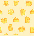 cheese seamless pattern appetizing milk product vector image vector image