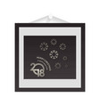 christmas card frame on dark background and snow vector image