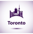 city skyline with landmarks Toronto Ontario vector image vector image