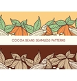 Cocoa beans seamless patterns vector image vector image
