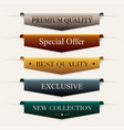 collection of premium promo sealsstickers vector image vector image