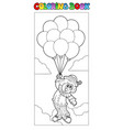 coloring book with flying clown vector image vector image