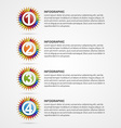 Creative education options infographics Design vector image vector image