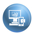 digital computer device icon simple style vector image
