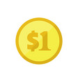 dollars coin icon vector image vector image