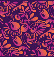 exotic leaves and floral seamless pattern vector image vector image
