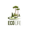 forest tree eco life green environment icon vector image vector image