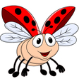 Funny lady bug vector image