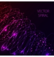 Glowing spiral on dark background Blue and pink vector image vector image