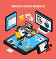 graphic design webinar concept vector image vector image