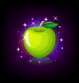 green apple with leaf slot icon for online casino vector image vector image