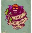 halloween monster vector image vector image