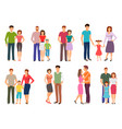 happy family people figures parenting parents vector image vector image