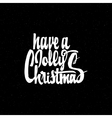 Have a jolly christmas - hand-lettering text vector image