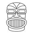 hawaii idol head icon outline style vector image vector image