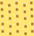 honey pattern background vector image